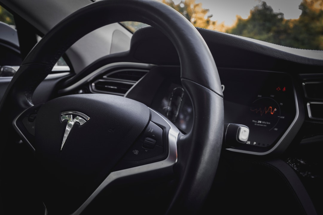 tesla car interior